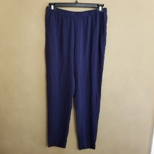 Eileen Fisher Silk Slouchy Ankle Pants in S